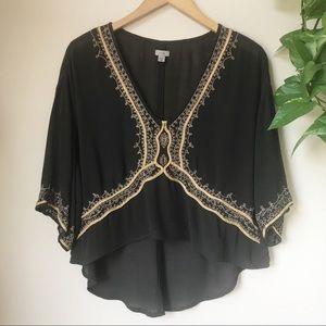 URBAN OUTFITTERS ECOTE Hi-Lo Embroidered Tunic Top